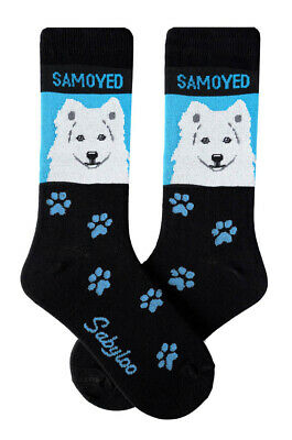 Samoyed Socks Lightweight Cotton Crew Stretch