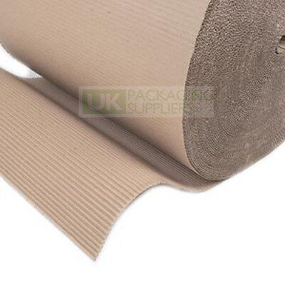 Corrugated Card Cardboard Paper Rolls Sheet 450mm High CHOOSE YOUR QTY + LENGTH