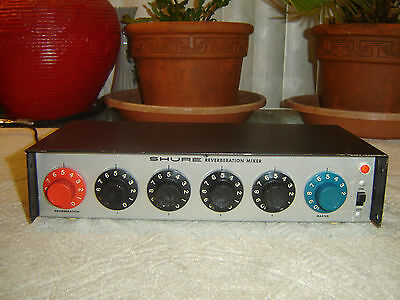 Shure PE70 RM, 4 Channel Reverberation Mixer, Spring Reverb, Vintage Unit
