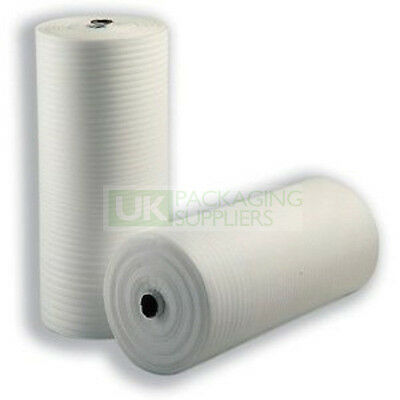 White Foam Wrap Wrapping Paper Sheeting 500mm Tall Roll CHOOSE YOUR QTY + LENGTH