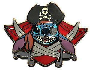 Disney Pirates of the Caribbean Pirate Stitch Completer Pin