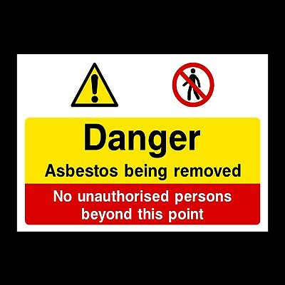 Asbestos Being Removed Signs & Stickers Large Sizes! Thick Materials! (Css31A)