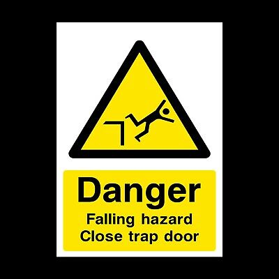 Danger Falling Hazard Signs & Stickers Large Sizes! Thick Materials! (Css7)