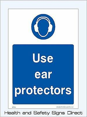 Use Ear Protectors Signs & Stickers Large Sizes! Thick Materials! (Mppe29)