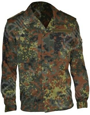 German Flecktarn Field Shirt - Army Military Camo Fatigue Airsoft Paintball New