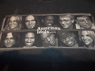 Official AMERICAN IDOL 2005 concert tour T-Shirt Carrie Underwood plus top 10