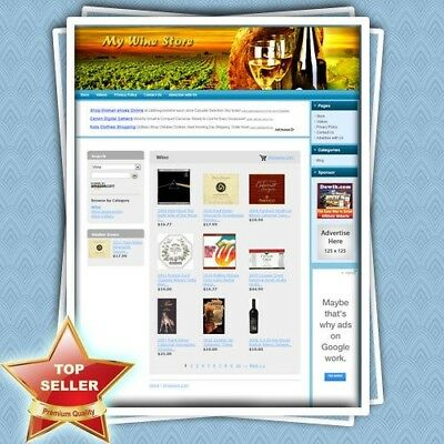 WINE STORE: Fully Functional eCommerce Affiliate Website - FREE Domain & Hosting