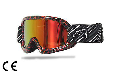 Youth MX Goggles*anti-fog*UV protection*Tinted*Dirt Bike Gear/Motocross/Moto X