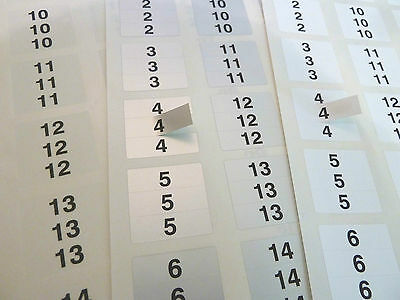 31x10mm TRIPLETS Consecutive Sequential Numbering Labels Number Stickers