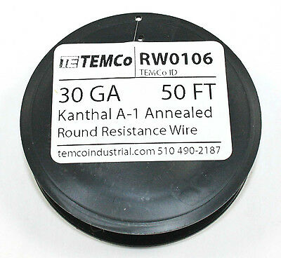 Kanthal A-1 Wire, 50 FT spool -  30Gauge   ( RW0106 )
