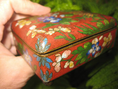 Genuine hand-made, antique Cloisonné Chinese copper box, Qing dynasty(?)