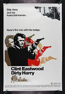 DIRTY HARRY * 40X60 CineMasterpieces ORIGINAL MOVIE POSTER 1971 CLINT EASTWOOD