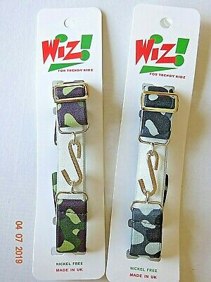 Kids Boy Girl Green,Grey Camouflage Army Elasticated Stretchy Snake Belt Child's