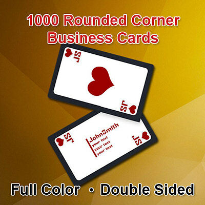1000 Custom Full Color Rounded Corner Business Cards - $50 - Free Shipping