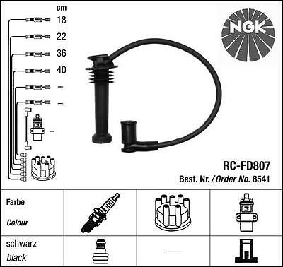 Ngk Ignition Leads Cables Ford Mondeo Mk2 Ii Fiesta Iv V Vi Focus Fusion 1.4 1.6