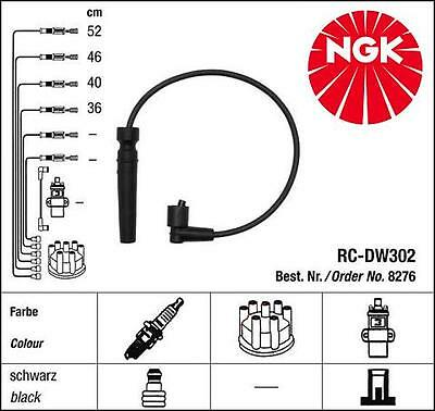 Ngk Ignition Leads Cables Chevrolet Aveo Kalos Daewoo Nubira Lanos 1.4 1.6 16V