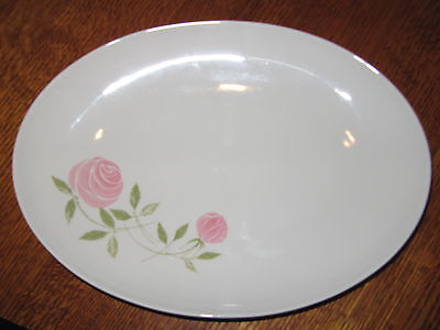 "FRANCISCAN PINK-A-DILLY 13"" oval serving platter EXCELLENT"
