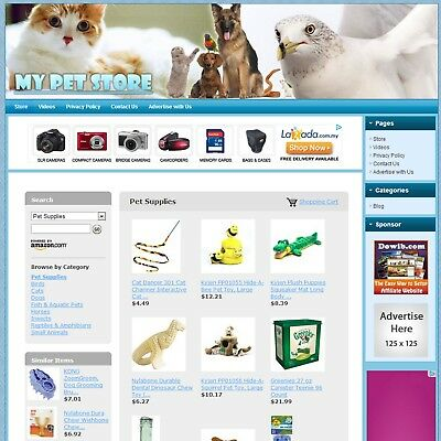 PET SUPPLIES STORE - Premium eCommerce Business Website, Google+Amazon Affiliate