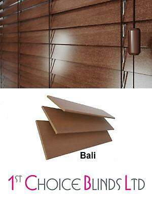 Made To Measure Wooden Venetian Blind Walnut (Bali) Real Wood 50Mm Slats