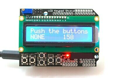 16x2 Character LCD Display Shield with Keypad for Arduino