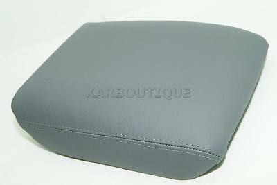 Fits 03-08 HONDA PILOT GRAY REAL LEATHER CONSOLE LID ARMREST COVER