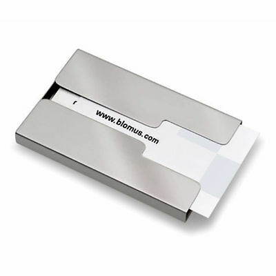 Blomus GENTS Steel Pocket Slide Card Case Holder Business Office Travel 68255