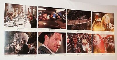 Indiana Jones and the Temple of Doom Lobby Cards 1984 Complete Set 8 x 10 Clean