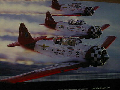 AVIATION AERO SHELL OIL SNAP ON PLANES   PROMOTIONAL ADVERTISING   POSTER  sale