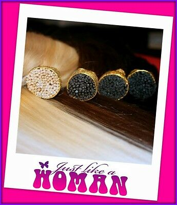 MICRO BEAD I TIP REMY HUMAN HAIR EXTENSIONS 1g - Brown Blonde Black - OZ Seller