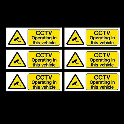 CCTV OPERATING IN THIS VEHICLE STICKERS FREE P+P car taxi bus van