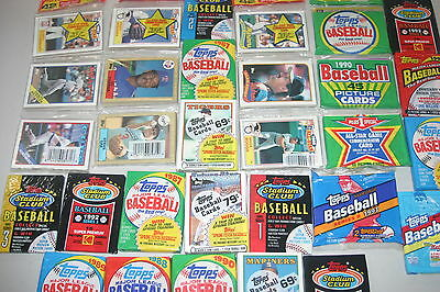 Lot Of 500 Old Unopened Baseball Cards In Packs Only Topps Cards!!