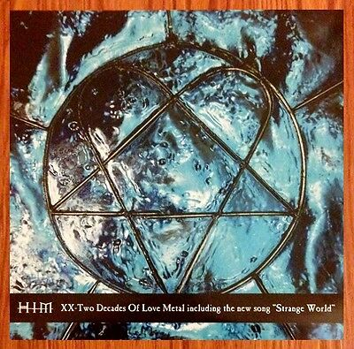 HIM XX: Two Decades Of Love Metal Ltd Ed RARE Discontinued New Litho Art Poster