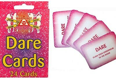Pack Of 24 Hen Night Party Dare Cards Game Accessories Girls Night Out..