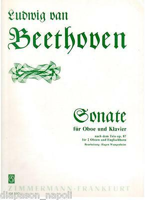 Beethoven: Sonate For Oboe And Clarinet Sonate Per Oboe E Clarinetto - Zimmerman