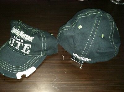 Captain Morgan Lime (Bite Black and Green)  Openers ball cap hat -Brand New
