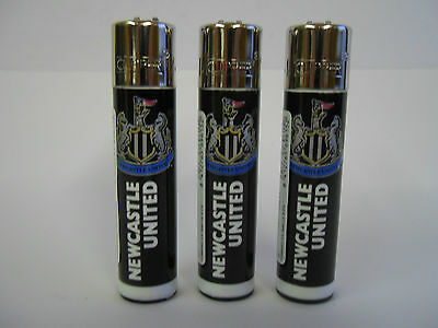 3 Official  Genuine Newcastle United  Football Clipper Lighters Ideal gift