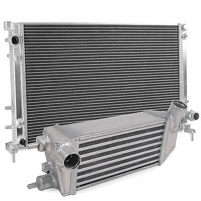 Alloy Front Mount Race Intercooler Radiator Cooling Kit For Fiat 500 1.4 Abarth