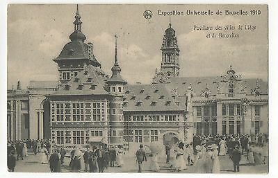 Brussels Bruxelles 1910 Exposition Universelle w/ Cancellation Vintage Postcard