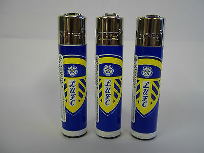 3 Official  Genuine Leeds United  Football Clipper Lighter Ideal gift