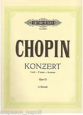 Chopin: Concerto Per Pianoforte in Fa Minore - Peters