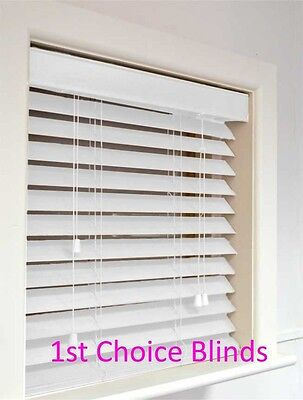Superior Made To Measure Wooden Venetian Blinds White  Wood 35Mm Slats