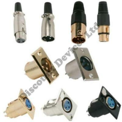 3/5P XLR Microphone Connector Male/Female Chassis/Plug Socket Gold/Silver Audio