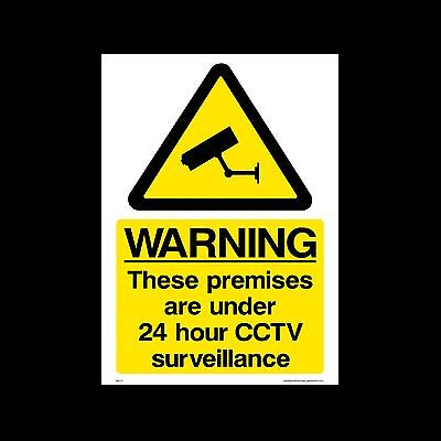 Cctv - 24Hour Surveillance In Operation Signs & Sticker Safety Security Camera