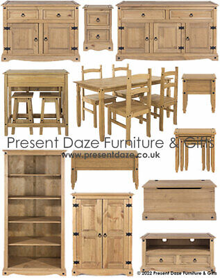 Premium Corona Solid Pine Mexican Style Living, Dining and Occasional Furniture