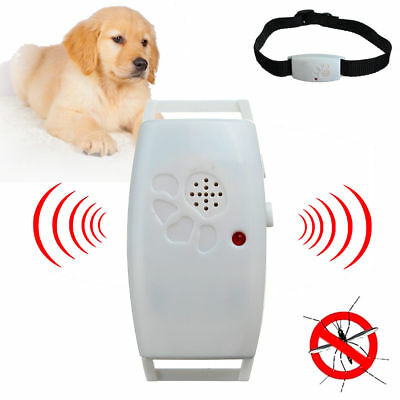 FLEA TICK MOSQUITO Repellent Ultrasonic Dog Collar  + FREE SET SPARE BATTERIES