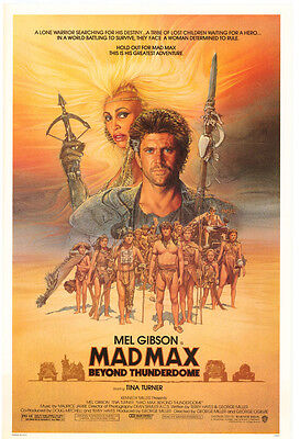 Mad Max Beyond Thunderdome Movie Poster Mel Gibson