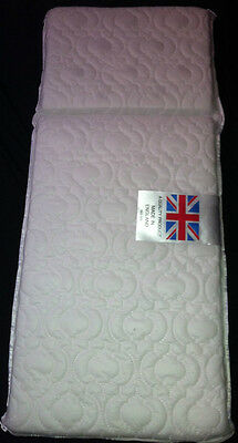 DELUXE QUILTED PRAM SAFETY MATTRESS EXTRA THICK for Silver Cross Marlborough