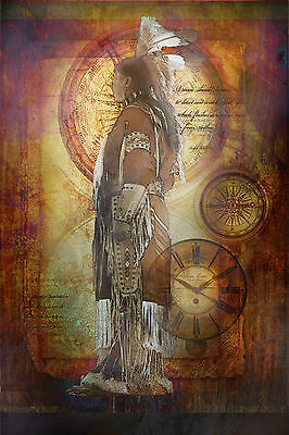 NATIVE AMERICAN TRADITIONAL DRESS BEADWORK DREAM INDIAN VISION FREEDOM
