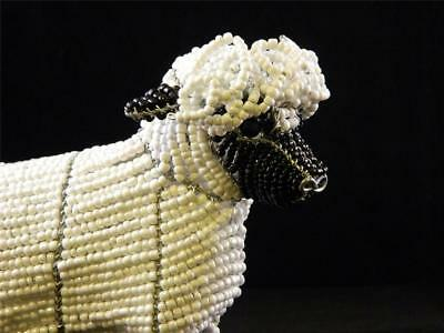 Sheep White Glass Beads Beaded Wire Hand Crafted Beadworx NWT Lamb