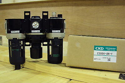 CKD F.R.L. Filter Regulator Lubricator C3000-8N-F